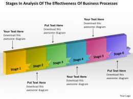 PPT stages in analysis of the effectiveness business processes PowerPoint Templates 6 stages