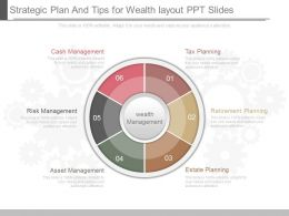 Ppt Strategic Plan And Tips For Wealth Layout Ppt Slides