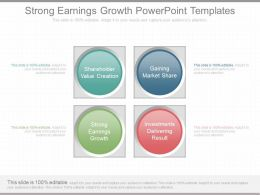 Ppt Strong Earnings Growth Powerpoint Templates