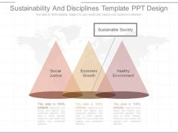 Ppt Sustainability And Disciplines Template Ppt Design