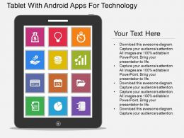 ppt Tablet With Android Apps For Technology Flat Powerpoint Design