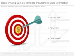 Ppt Target Pricing Sample Template Powerpoint Slide Information