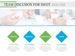 ppt Team Discussion For Swot Analysis Flat Powerpoint Design
