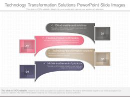 Ppt Technology Transformation Solutions Powerpoint Slide Images