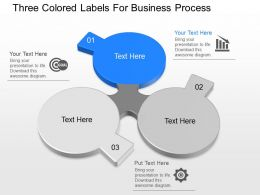 ppt Three Colored Labels For Business Process Powerpoint Template
