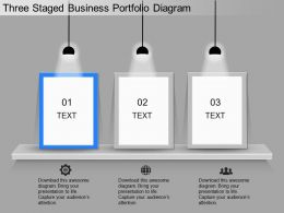 ppt Three Staged Business Portfolio Diagram Powerpoint Template