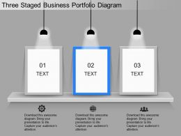 ppt Three Staged Business Portfolio Diagram Powerpoint Template