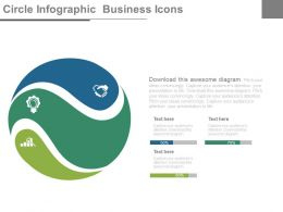 ppt Three Staged Circle Infographics Business Icons Flat Powerpoint Design