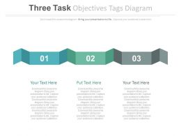ppt Three Task Objectives Tags Diagram Flat Powerpoint Design