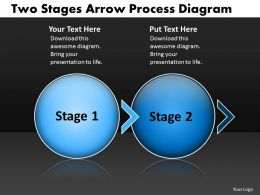 PPT two stages arrow process swim lane diagram powerpoint template Business Templates 2 stages