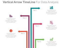ppt Vertical Arrow Timeline For Business Data Analysis Flat Powerpoint Design