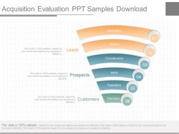 Ppts Acquisition Evaluation Ppt Samples Download