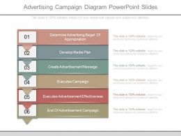Ppts Advertising Campaign Diagram Powerpoint Slides