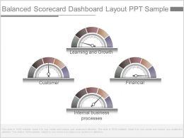 Ppts Balanced Scorecard Dashboard Layout Ppt Sample