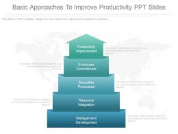 Ppts Basic Approaches To Improve Productivity Ppt Slides