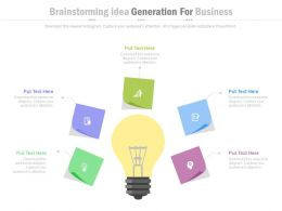 ppts Brainstorming Idea Generation For Business Flat Powerpoint Design