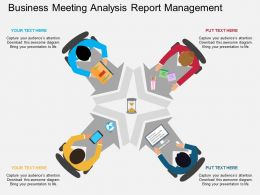 ppts Business Meeting Analysis Report Management Flat Powerpoint Design