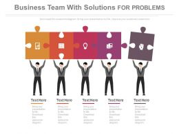 ppts Business Team With Solutions For Problems Flat Powerpoint Design
