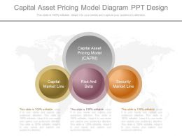 Ppts Capital Asset Pricing Model Diagram Ppt Design