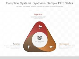 Ppts Complete Systems Synthesis Sample Ppt Slides
