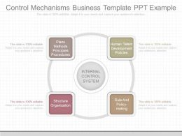 Ppts Control Mechanisms Business Template Ppt Example
