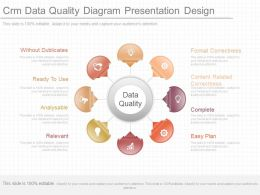 Ppts Crm Data Quality Diagram Presentation Design