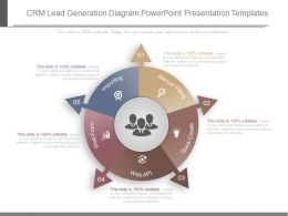 Ppts Crm Lead Generation Diagram Powerpoint Presentation Templates