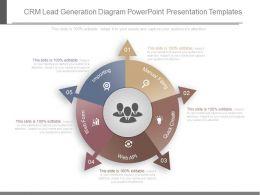 Ppts Crm Lead Generation Diagram Powerpoint Presentation Templates