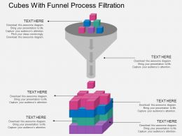 ppts_cubes_with_funnel_process_filtration_flat_powerpoint_design_Slide01