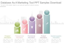 Ppts Database As A Marketing Tool Ppt Samples Download