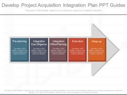 Ppts Develop Project Acquisition Integration Plan Ppt Guides