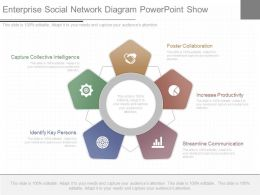 Ppts Enterprise Social Network Diagram Powerpoint Show