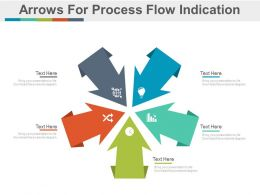 ppts Five Arrows For Process Flow Indication Flat Powerpoint Design