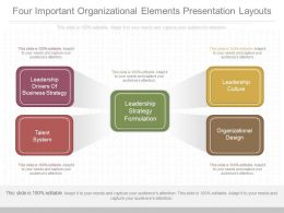Ppts Four Important Organizational Elements Presentation Layouts