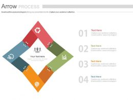 ppts Four Staged Arrow Process Chart And Icons For Agile Management Flat Powerpoint Design