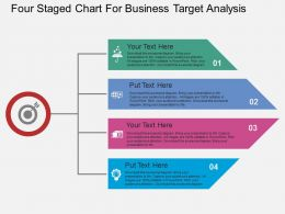 ppts Four Staged Chart For Business Target Analysis Flat Powerpoint Design