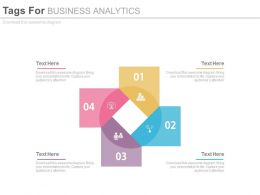ppts Four Staged Tags For Business Analytics Flat Powerpoint Design