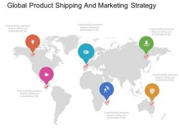ppts Global Product Shipping And Marketing Strategy Flat Powerpoint Design