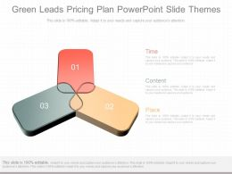 Ppts Green Leads Pricing Plan Powerpoint Slide Themes