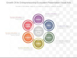Ppts Growth Of An Entrepreneurship Ecosystem Presentation Visual Aids