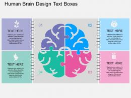 ppts Human Brain Design Text Boxes Flat Powerpoint Design