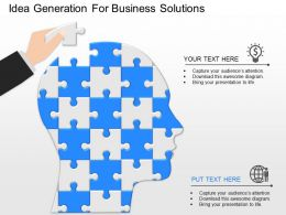 ppts Idea Generation For Business Solutions Powerpoint Template
