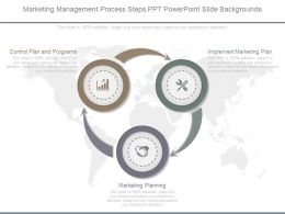 Ppts Marketing Management Process Steps Ppt Powerpoint Slide Backgrounds