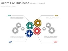 ppts Multiple Gears For Business Process Control Flat Powerpoint Design