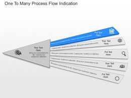 ppts One To Many Process Flow Indication Powerpoint Template