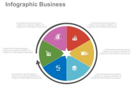 ppts Pie Chart And Icons For Result Analysis Flat Powerpoint Design