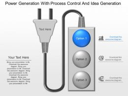 ppts Power Generation With Process Control And Idea Generation Powerpoint Template