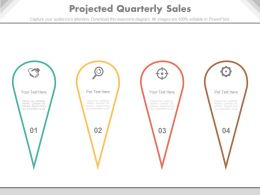 ppts Projected Quarterly Sales Powerpoint Slides
