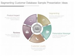 Ppts Segmenting Customer Database Sample Presentation Ideas