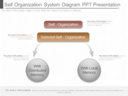 Ppts Self Organization System Diagram Ppt Presentation